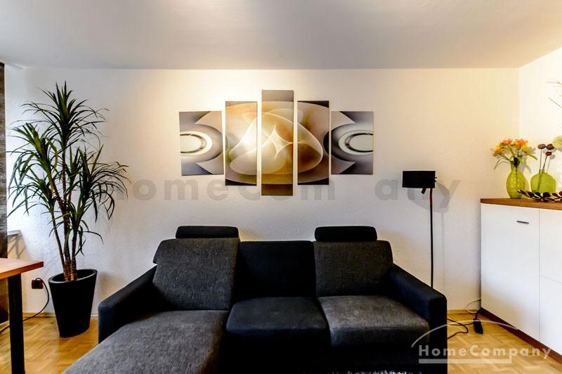Great, newly furnished 3-room-flat with balcony in the district of Berg am Laim