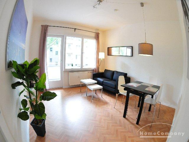 Bright 3 room flat with balcony in Berlin Wilmersdorf, furnished